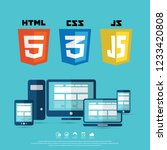 coding and web technology... | Shutterstock .eps vector #1233420808