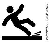 falling man icon black color | Shutterstock .eps vector #1233423532