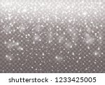 white sparks and stars glitter... | Shutterstock .eps vector #1233425005