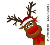 funny cartoon christmas... | Shutterstock .eps vector #1233425068