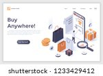 modern landing page with buyer... | Shutterstock .eps vector #1233429412