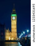 big ben at night  london   uk  | Shutterstock . vector #1233431695