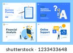 set of flat design web page... | Shutterstock .eps vector #1233433648