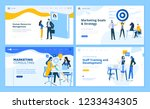 set of flat design web page... | Shutterstock .eps vector #1233434305