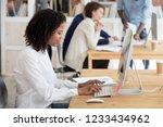 african american worker  intern ... | Shutterstock . vector #1233434962