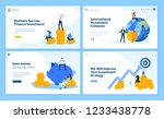 set of flat design web page... | Shutterstock .eps vector #1233438778