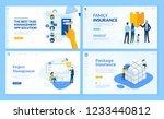 set of flat design web page... | Shutterstock .eps vector #1233440812