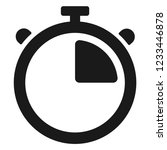 stopwatch timer icon | Shutterstock .eps vector #1233446878