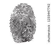 fingerprint. finger. the... | Shutterstock .eps vector #1233447742