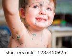 child ailing chickenpox | Shutterstock . vector #1233450625