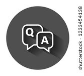 question and answer icon in... | Shutterstock .eps vector #1233454138