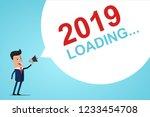 businessman holding in hand... | Shutterstock .eps vector #1233454708