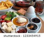 turkish breakfast table | Shutterstock . vector #1233454915