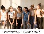 six attractive different slim... | Shutterstock . vector #1233457525