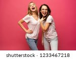two exited woman having fun and ...   Shutterstock . vector #1233467218
