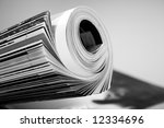 rolled up magazine | Shutterstock . vector #12334696
