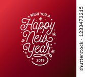 happy new year lettering... | Shutterstock .eps vector #1233473215