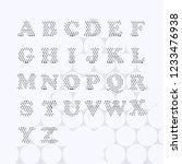 text font alphabet letters... | Shutterstock .eps vector #1233476938