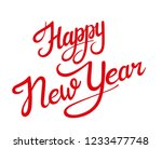 happy new year greeting card... | Shutterstock .eps vector #1233477748