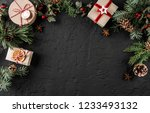 creative layout frame made of... | Shutterstock . vector #1233493132