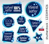 various vector labels water 4 | Shutterstock .eps vector #123349426