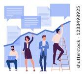 flat design business process... | Shutterstock .eps vector #1233498925