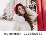 gorgeous female model with...   Shutterstock . vector #1233502582