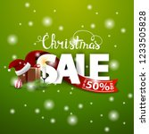 christmas discount card with... | Shutterstock .eps vector #1233505828