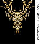design t shirt with golden... | Shutterstock .eps vector #1233507202