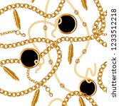 seamless pattern with chain for ... | Shutterstock .eps vector #1233512218