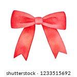 bright red decorative ribbon... | Shutterstock . vector #1233515692