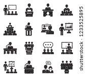 speech icons. black scribble... | Shutterstock .eps vector #1233525895