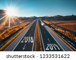 driving on open road at... | Shutterstock . vector #1233531622