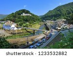 lynmouth town centre   quayside ... | Shutterstock . vector #1233532882