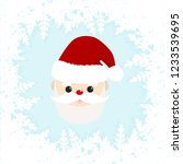 cute santa claus with frame...   Shutterstock .eps vector #1233539695