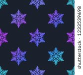 snowflakes seamless pattern....   Shutterstock .eps vector #1233539698