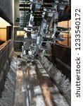 matalic pieces galvanized on... | Shutterstock . vector #1233540172