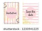 bridal shower set with dots and ... | Shutterstock .eps vector #1233541225