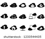 black cloud technology icons... | Shutterstock .eps vector #1233544435