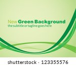 Green Simple Eco Vector Background