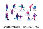 winter time. happy people... | Shutterstock .eps vector #1233578752