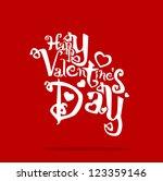 greeting card. happy valentine...   Shutterstock .eps vector #123359146