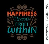motivation quote  happiness... | Shutterstock .eps vector #1233602902