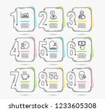 infographic template with... | Shutterstock .eps vector #1233605308