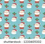 seamless santa or christmas... | Shutterstock .eps vector #1233605332