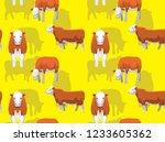 cow simmental cartoon...   Shutterstock .eps vector #1233605362