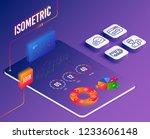 isometric vector. set of dating ... | Shutterstock .eps vector #1233606148