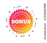 bonus sign icon. special offer... | Shutterstock .eps vector #1233606988
