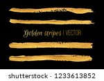 golden stripes painted with a... | Shutterstock .eps vector #1233613852