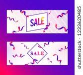 vibrant pink sale sign vector... | Shutterstock .eps vector #1233620485